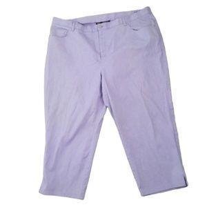 Jones New York Lavender Plus Pastel Jeans Size 22W